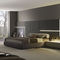 double bed / contemporary / with headboard / with integrated bedside table