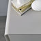 contemporary chest of drawers / lacquered wood / gray