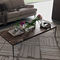 contemporary coffee table / oak / metal / marble