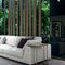 contemporary side table / wooden / metal / marble