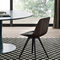 contemporary chair / solid wood / metal