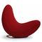 organic design fireside chair / leather / steel / rocker