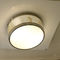 traditional ceiling light / round / glass / brass