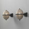 traditional wall light / brass / silk / LED