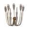 Art Deco wall light / brass / LED / candelabra