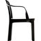 contemporary chair / with armrests / oak / leather