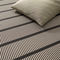 contemporary rug / striped / cotton / paper yarn