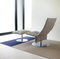 contemporary ottoman / fabric / metal / upholstered