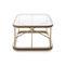 contemporary coffee table / glass / oak / rectangular