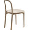 contemporary dining chair / upholstered / oak / fabric