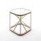 contemporary bedside table / glass / oak / square