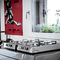 contemporary kitchen / stainless steel / with integrated handle