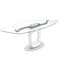 contemporary dining table / tempered glass / metal / ceramic