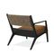 contemporary armchair / fabric / solid wood / ash
