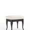 traditional upholstered bench / solid wood / ash