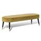 traditional upholstered bench / fabric