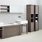 double washbasin / countertop / stone / contemporary
