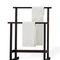 2-bar towel rack / floor-standing / wooden