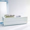 contemporary chest of drawers / lacquered wood / lacquered glass / white