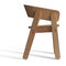 contemporary chair / with armrests / beech / black
