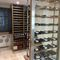 stainless steel wine cabinet