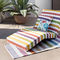upholstery fabric / striped / floral pattern / for outdoor use