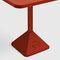 contemporary bistro table / cast iron / iron / square