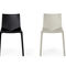 contemporary garden chair / stackable / upholstered / plastic