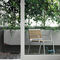 contemporary garden chair / with armrests / metal