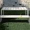 garden bench / contemporary / aluminum / laminate