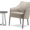 contemporary armchair / fabric / leather / with removable cover