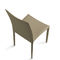 contemporary chair / upholstered / steel / leather