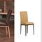 contemporary chair / upholstered / fabric / wooden