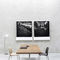 contemporary dining table / wooden / crystal / steel