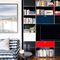 contemporary TV wall unit / metal / MDF / custom