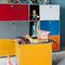 contemporary shelf / lacquered MDF / metal / child's