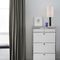 contemporary chest of drawers / lacquered MDF / metal / white