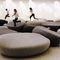 original design upholstered bench / wool / for public buildings / for hotels