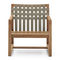 contemporary armchair / teak / polyester / sled base
