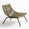 contemporary fireside chair / stainless steel / polyester / with footrest