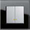 light switch / push-button / recessed / double