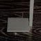 1-bar towel rack / floor-standing / stainless steel / brass