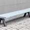 public bench / contemporary / metal / concrete