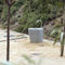 outdoor drinking fountain / stainless steel / concrete / for public spaces