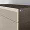 low filing cabinet / wood veneer / laminate / with drawers