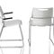 contemporary visitor chair / with armrests / sled base / polypropylene