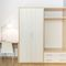 wall-mounted wardrobe / contemporary / wooden / with swing doors