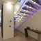 straight staircase / metal frame / acrylic steps / without risers