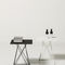 contemporary side table / steel / square / commercial