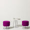contemporary side table / HPL / round / commercial